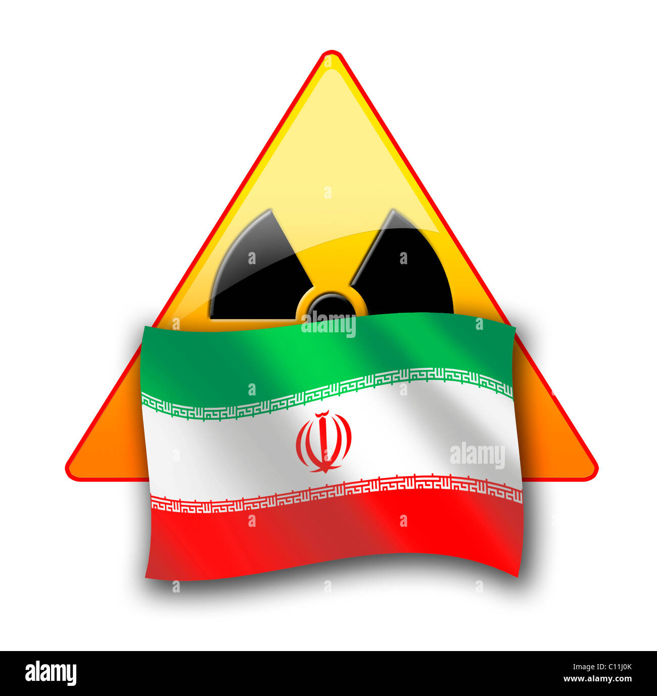 Symbolic image, nuclear dispute between Iran and the United Nations, the international community - Stock Image