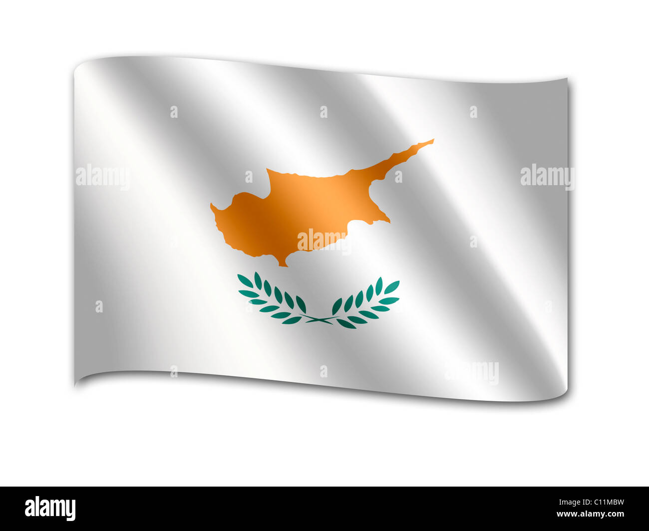 Flag of the Republic of Cyprus - Stock Image