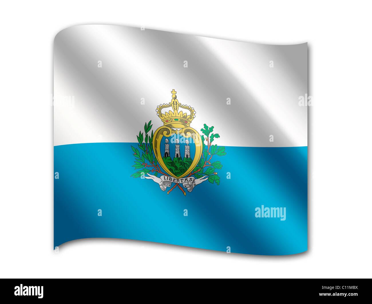 Flag of San Marino - Stock Image