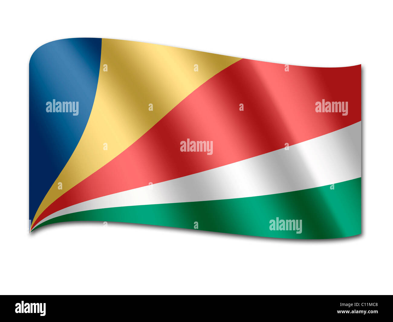 Flag of the Seychelles - Stock Image