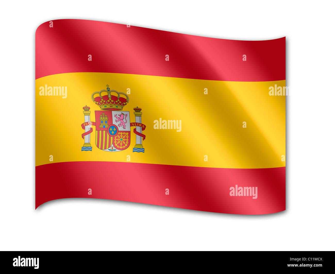 Flag of Spain - Stock Image