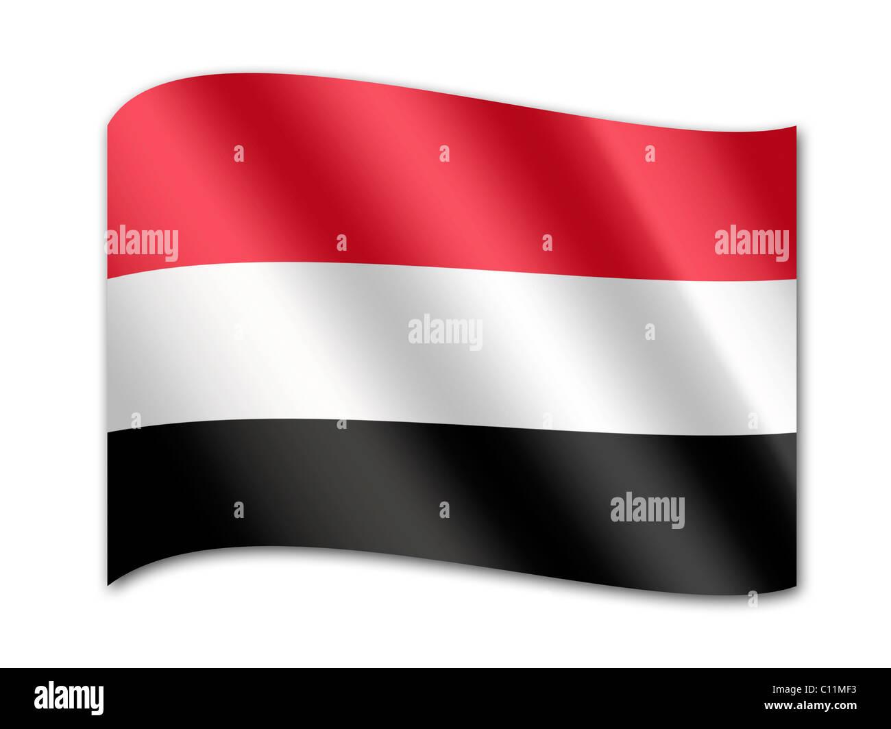Flag of Yemen - Stock Image