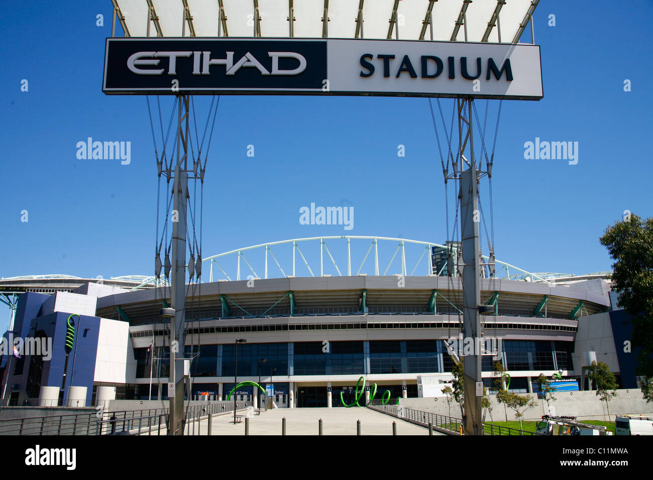 The Etihad Stadium in Melbourne, Victoria, Australia - Stock Image