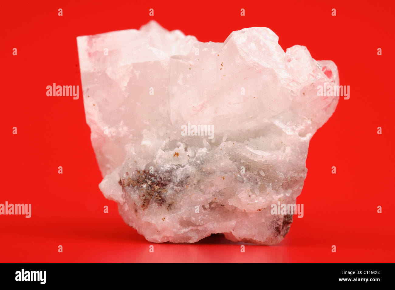 Mineral rock sample of Zeolite from India - Stock Image