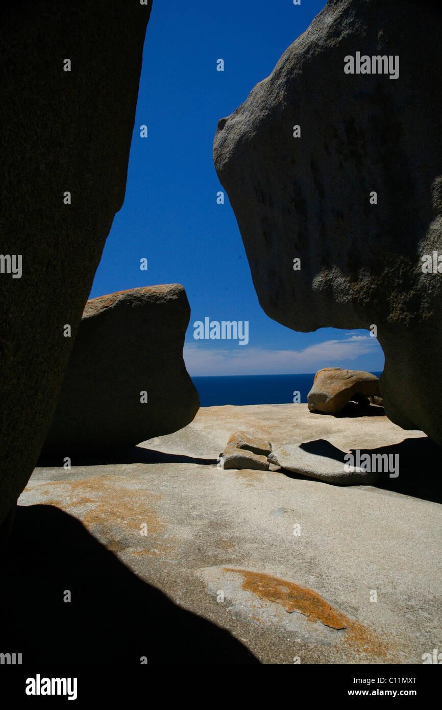 The famous Remarkable Rocks at Flinders Chase National Park on Kangaroo Island, South Australia, Australia - Stock Image