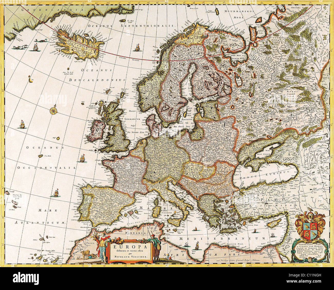Medieval Map World Stock Photos Medieval Map World Stock Images