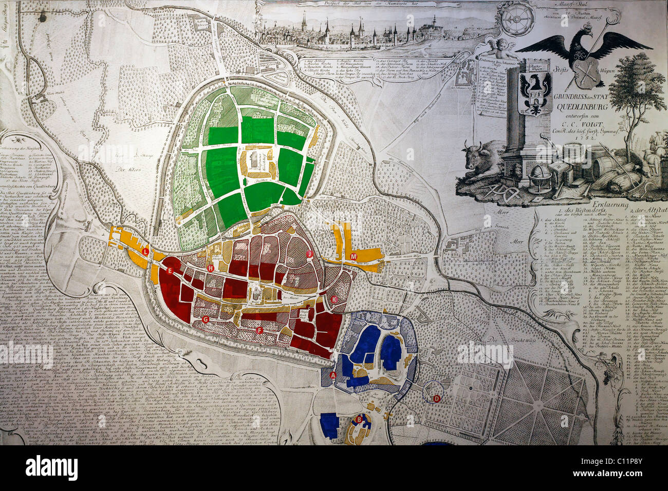 Historical Map Of Germany And Europe Stock Photos Historical Map
