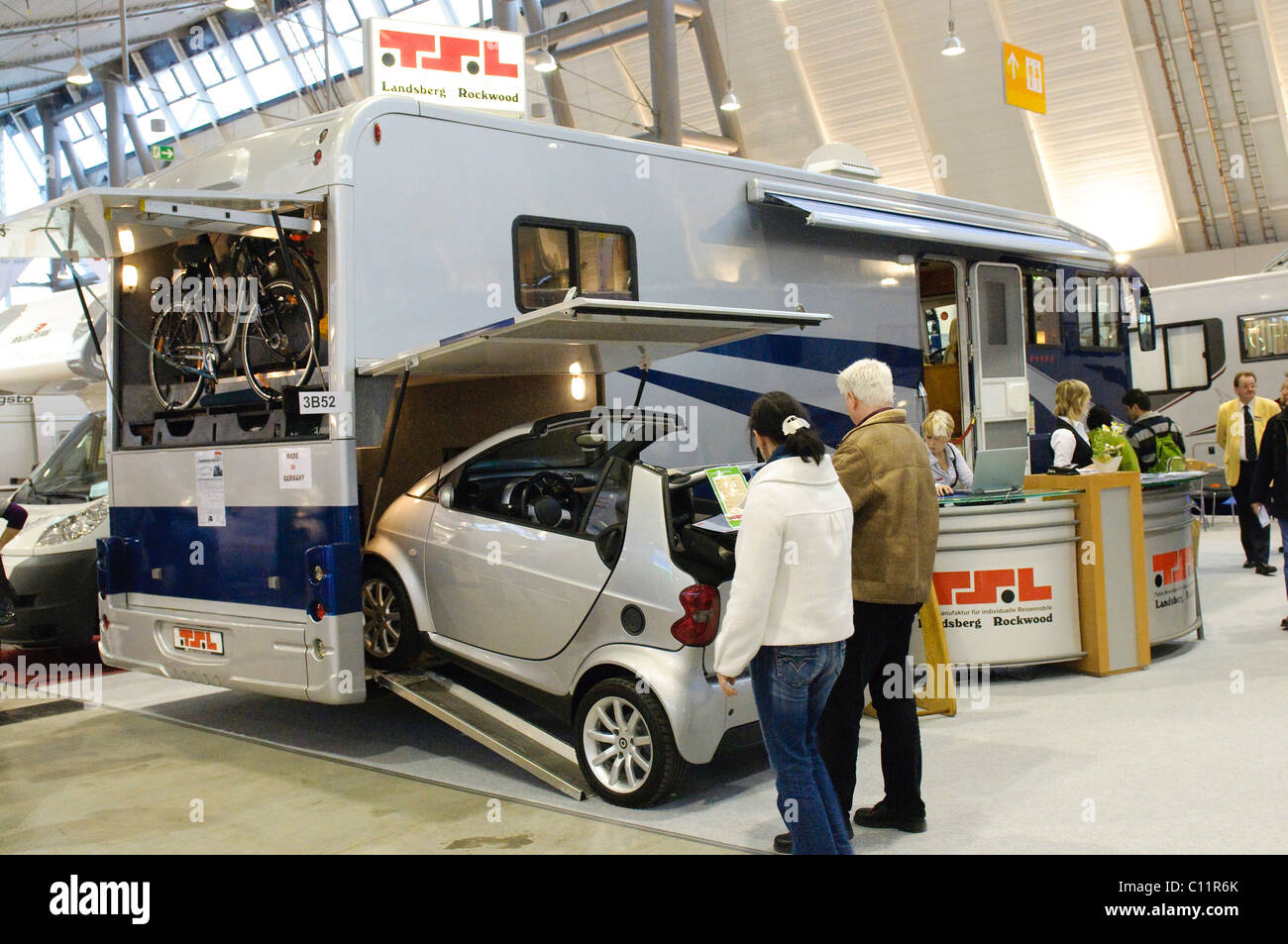 Giant Luxury Motor Home By Tsl A Smart Car Can Park
