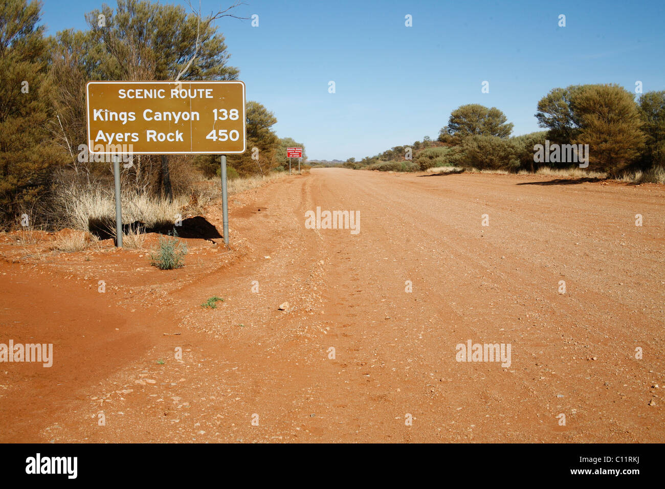 Dirt road in the Australian Outback, Australia - Stock Image