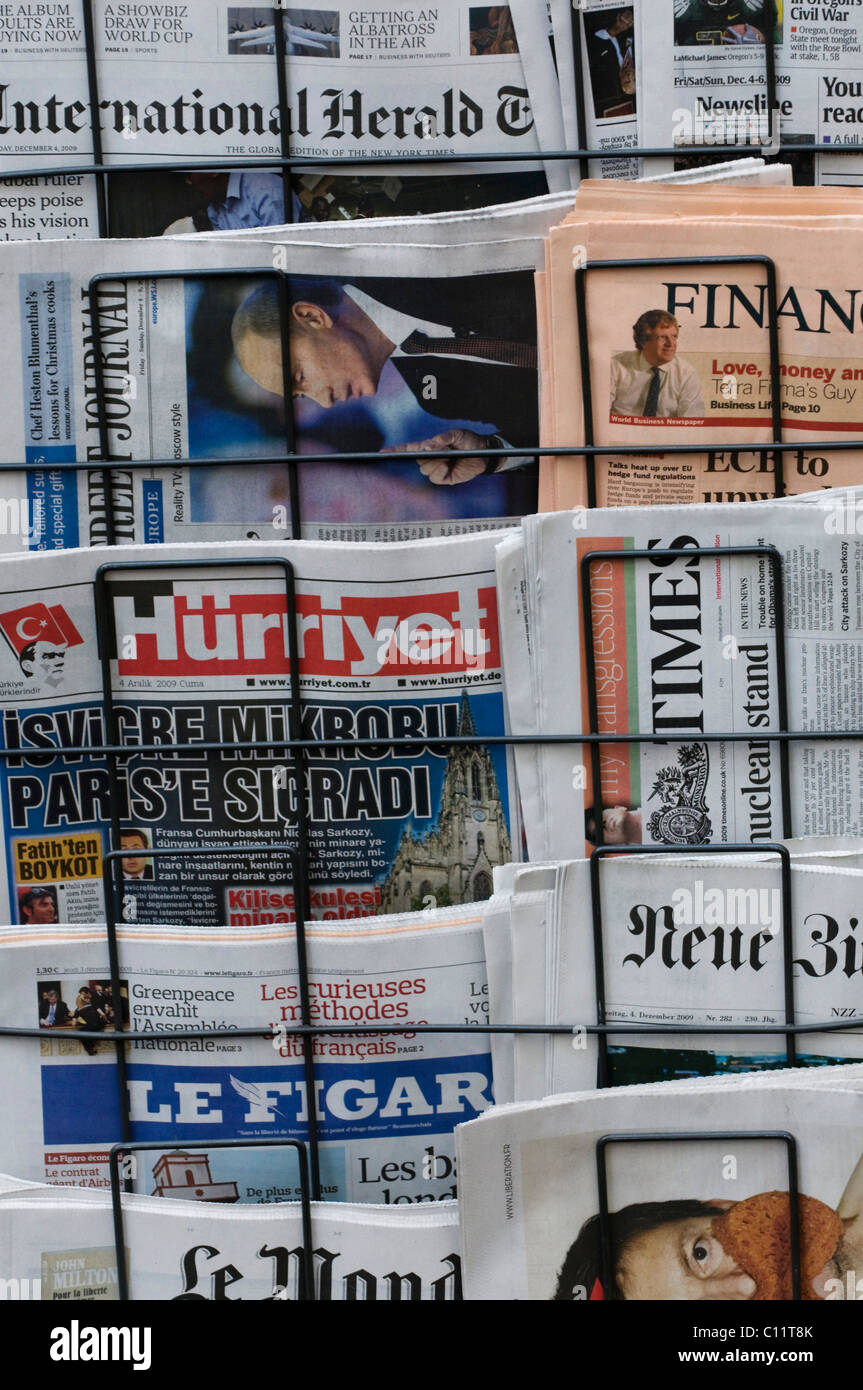 Newspaper Rack 1. Magazine Rack, International Newspapers, German, French,  Turkish And