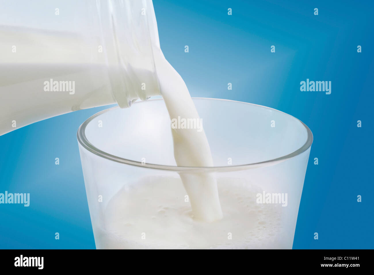 A glass of milk Stock Photo