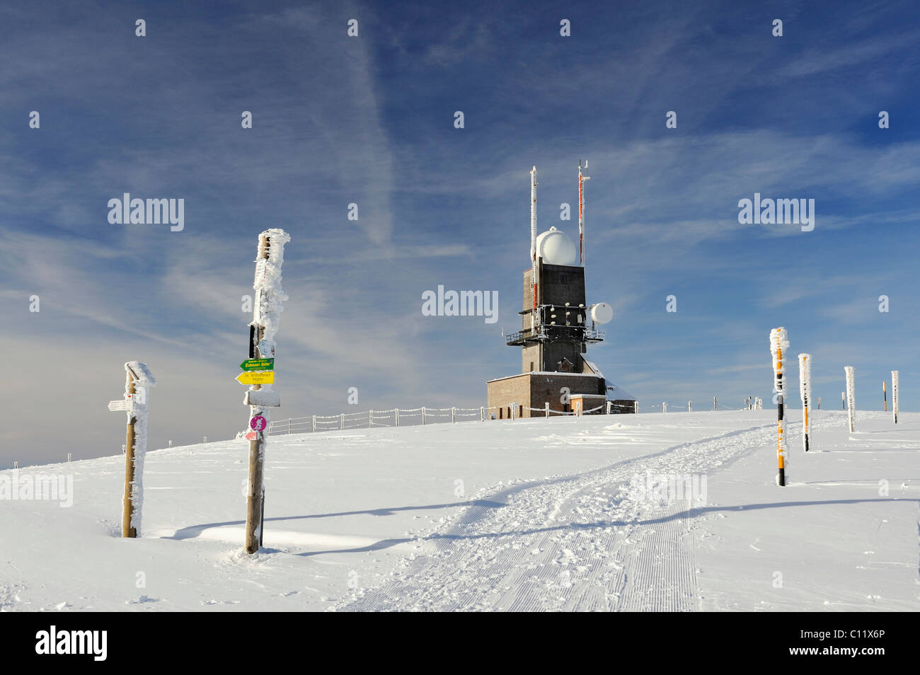 36bbcc0be6 The weather radar system of the German Weather Service on the 1493m high  Mt. Feldberg