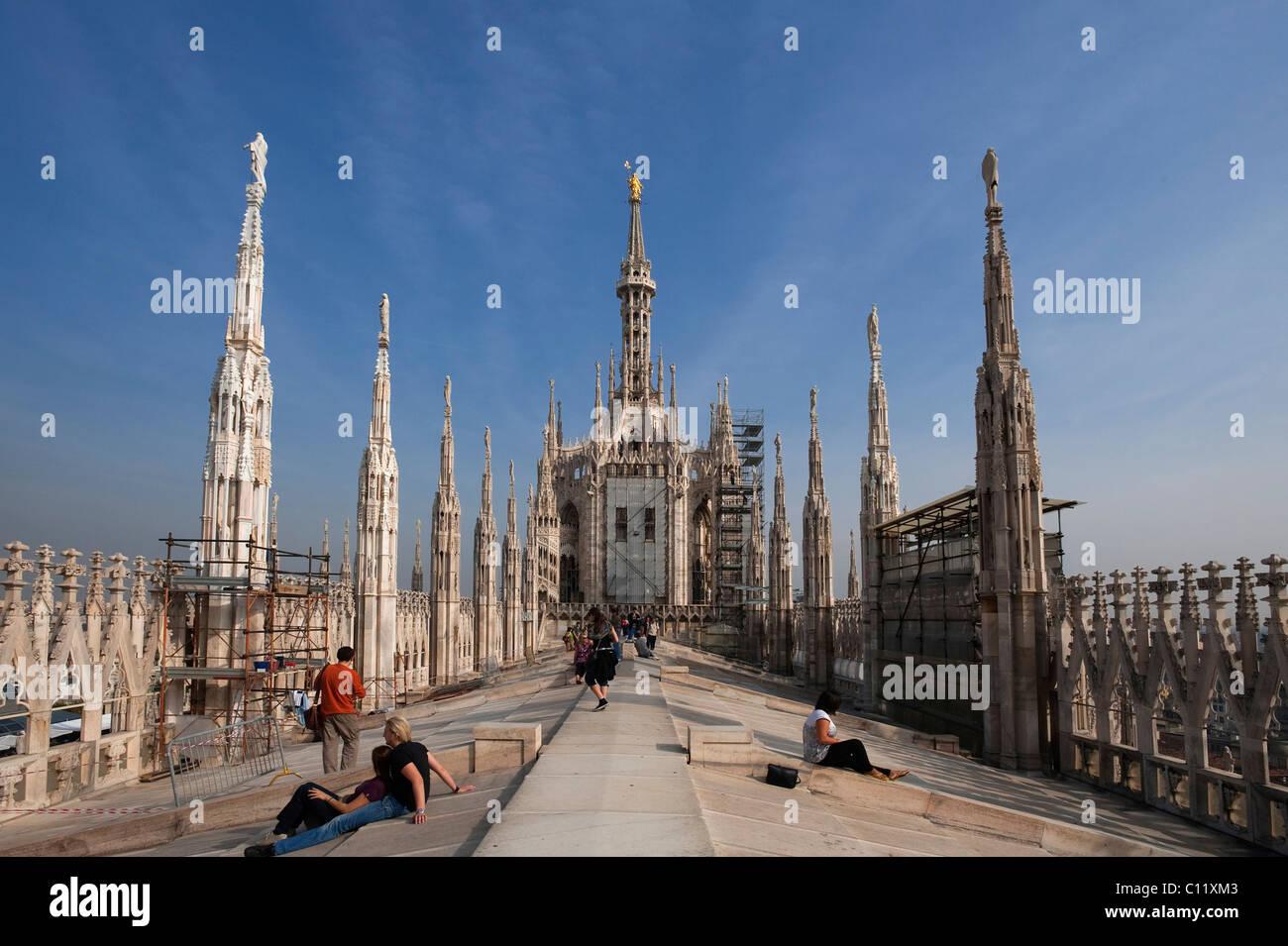 Duomo di Milano, Milan Cathedral, Milan, Lombardy, Italy, Europe - Stock Image