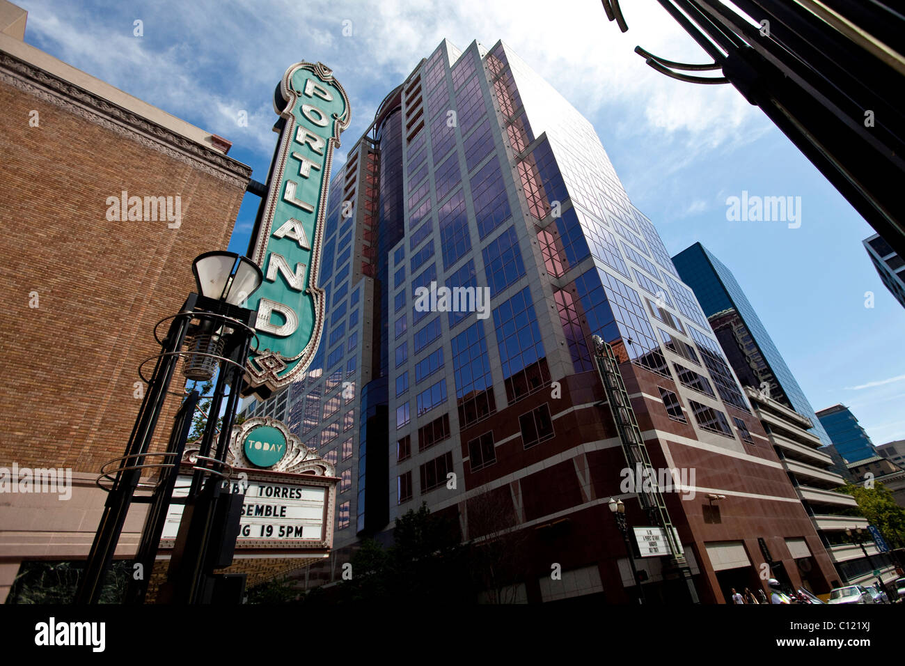 Portland Theater in SW Main Street, Portland, Oregon, USA - Stock Image