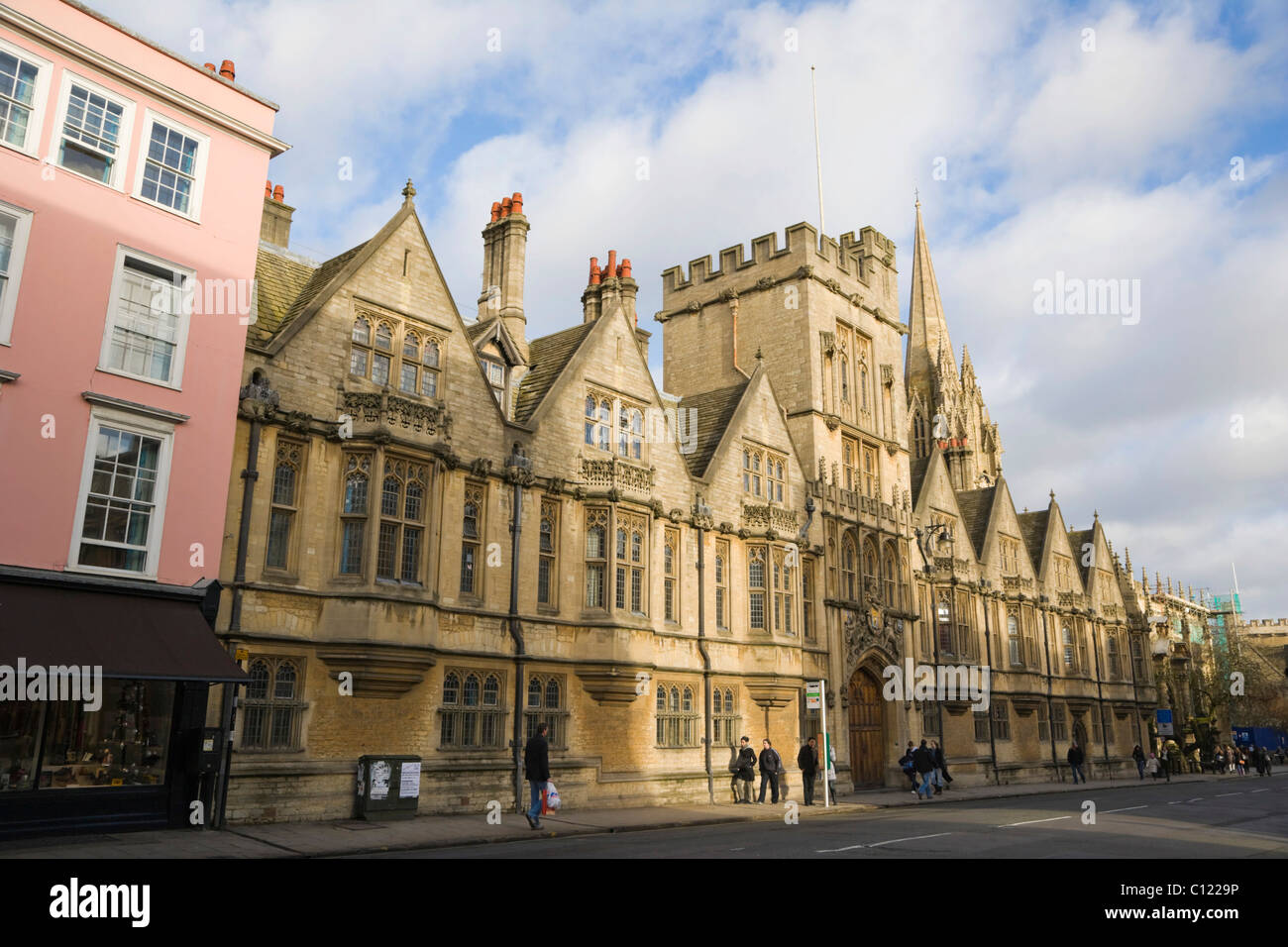 Brasenose College, High Street, Oxford, Oxfordshire, England, United Kingdom, Europe - Stock Image