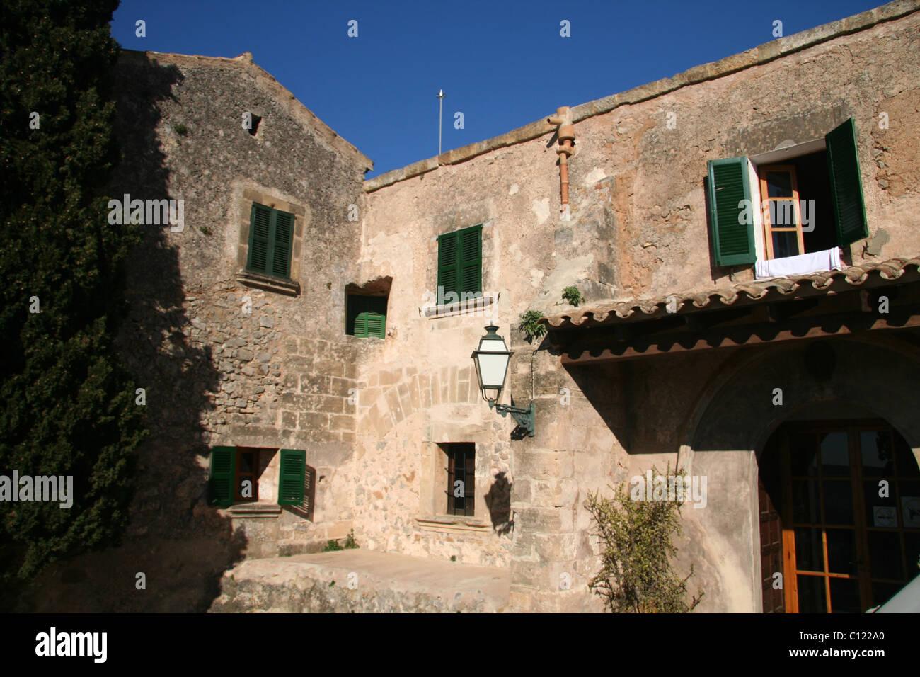 Ermita del Puig de Maria, Pollensa, Mallorca - Stock Image