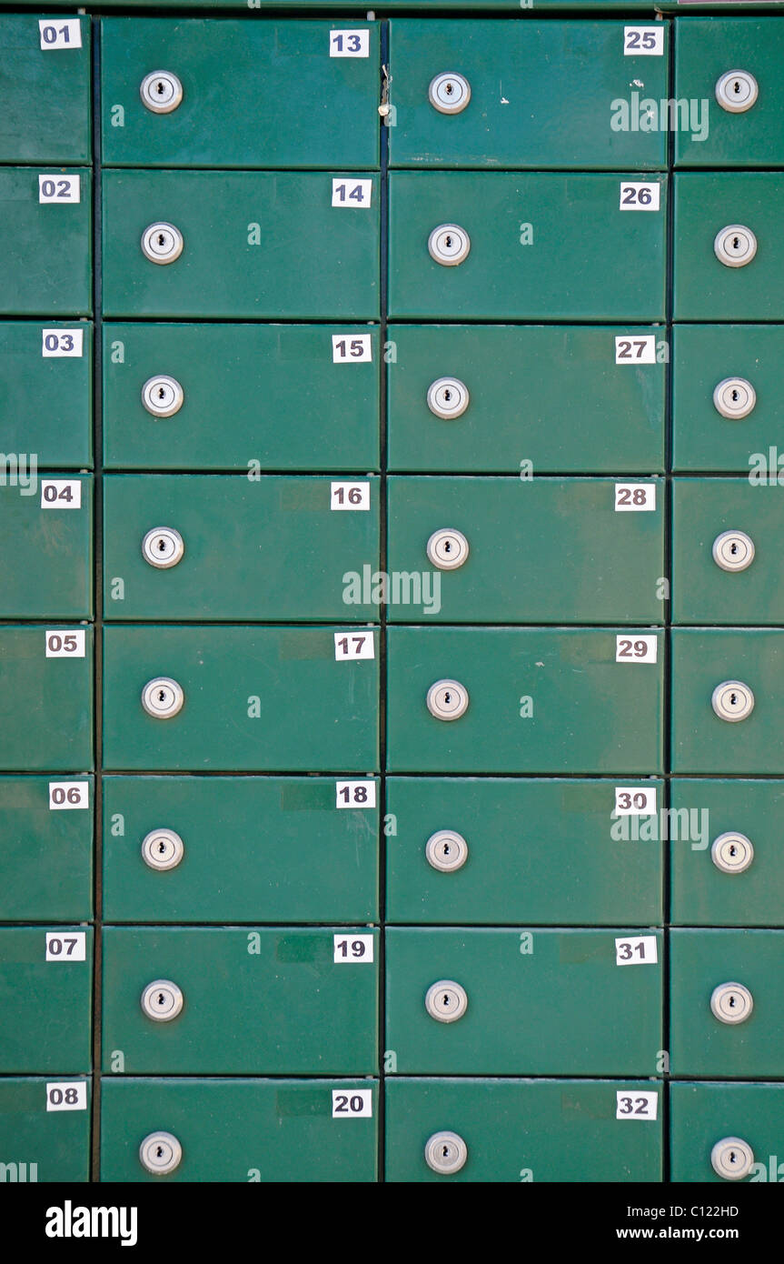 Many mailboxes, postboxes, Costa Blanca, Alicante, Spain, Europe - Stock Image