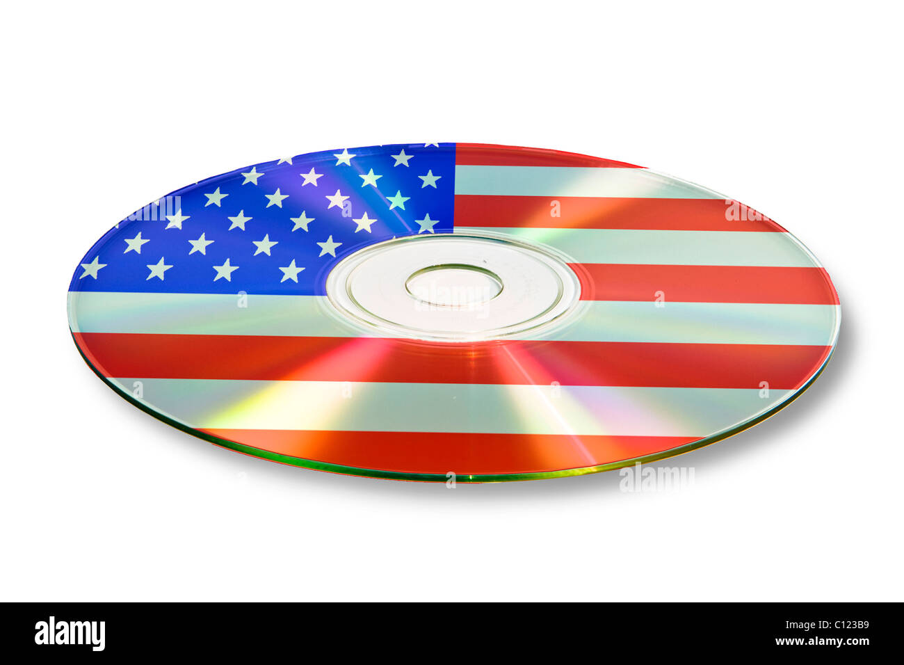 Data, account information, on CD, DVD, USA, United States of America - Stock Image