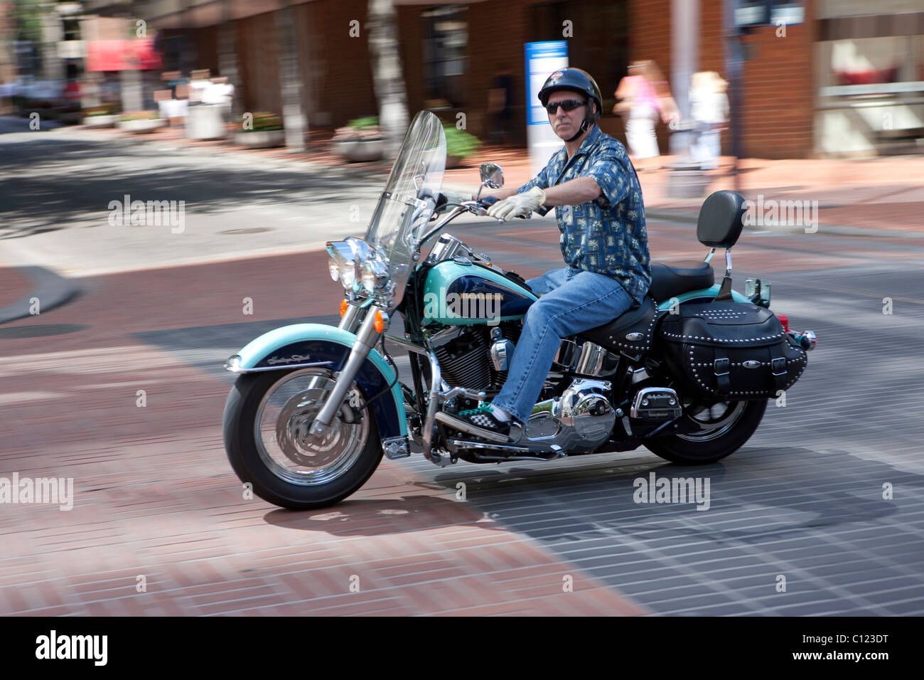 Man Riding Harley Davidson Stock Photos & Man Riding Harley Davidson