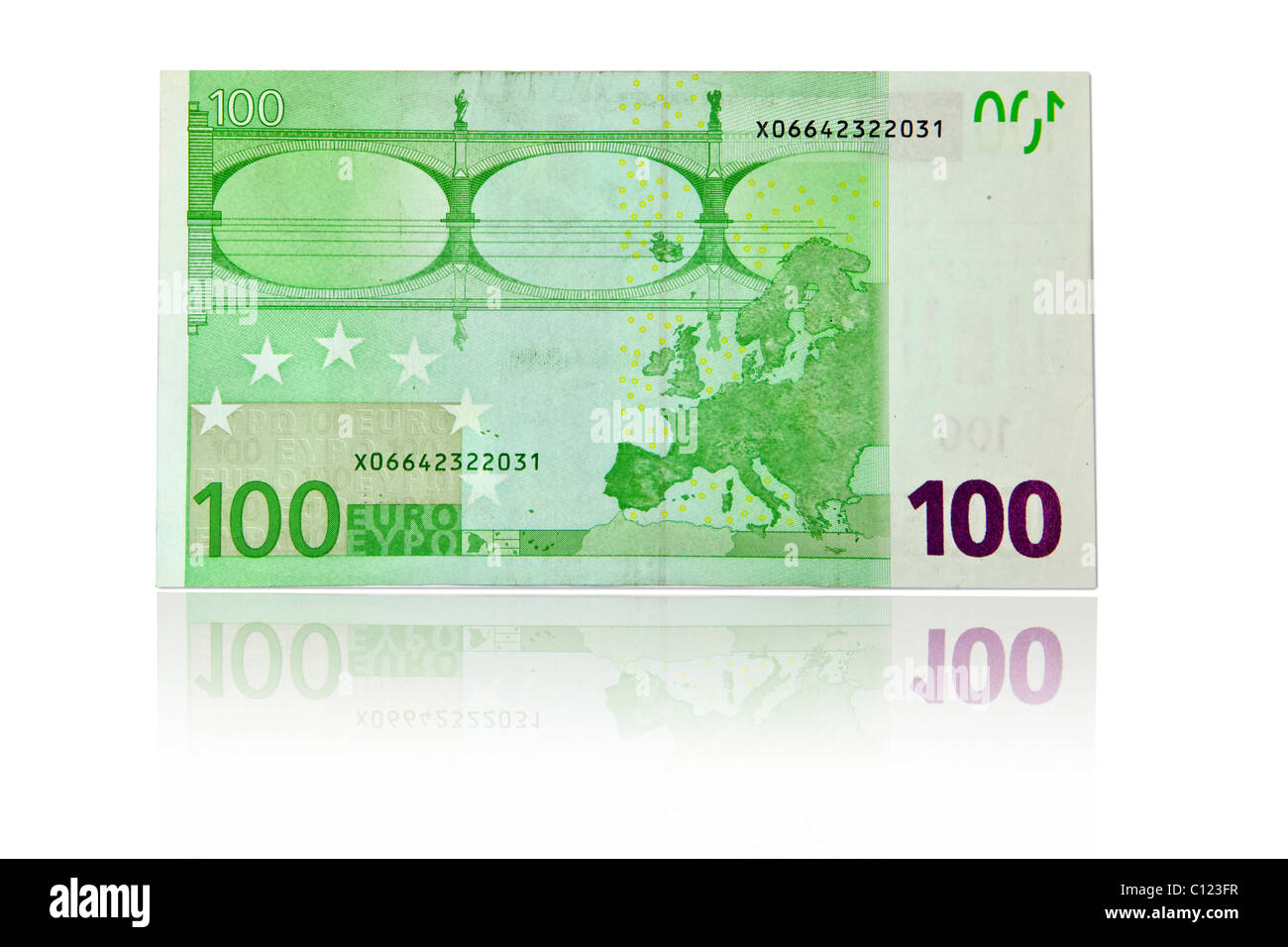 123 Fr 100 euro banknote, back stock photo: 35082091 - alamy