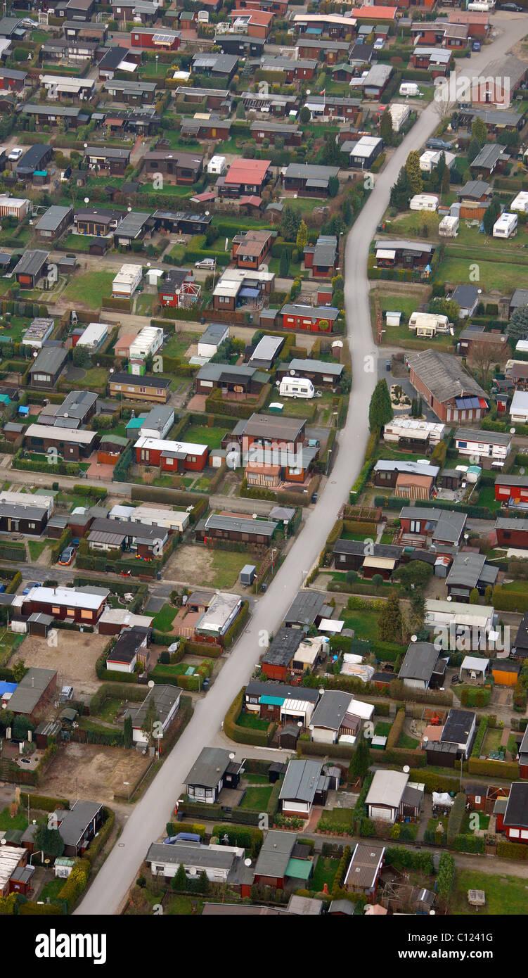 Aerial photo, Alte Muehle recreational camping site, Dingden, Hamminkeln, Lower Rhine, North Rhine-Westphalia, Germany, - Stock Image