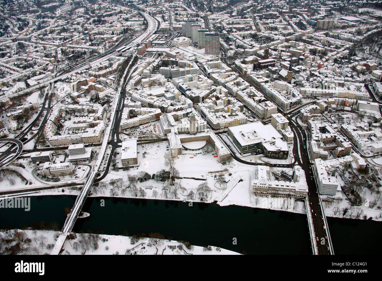 Aerial view, Urbania, Urbana, Muelheim an der Ruhr, Ruhrgebiet region, North Rhine-Westphalia, Germany, Europe - Stock Image