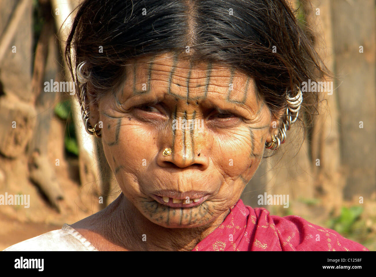 Kutia kondh tribe, Orissa, India - Stock Image