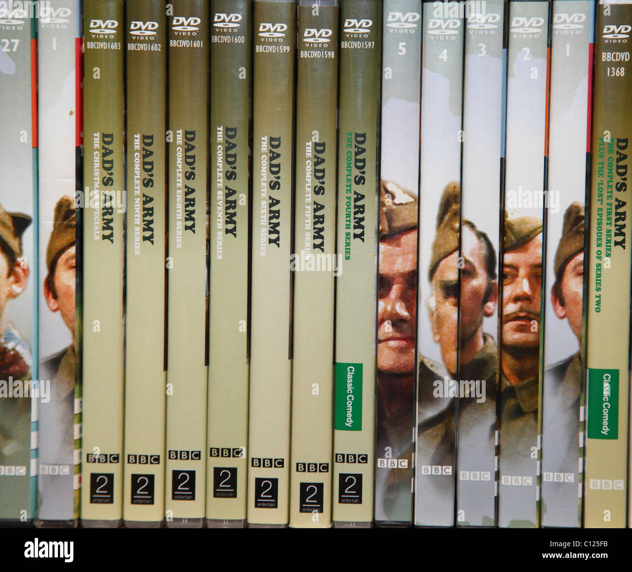The BBC Dad's Army comedy TV show DVD collection. - Stock Image