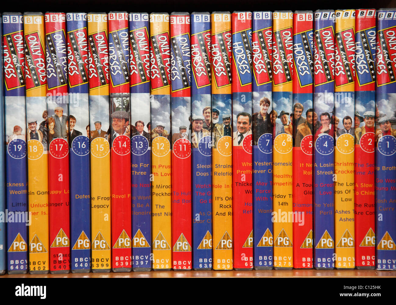 The BBC Only Fools and Horses comedy TV show DVD collection. - Stock Image