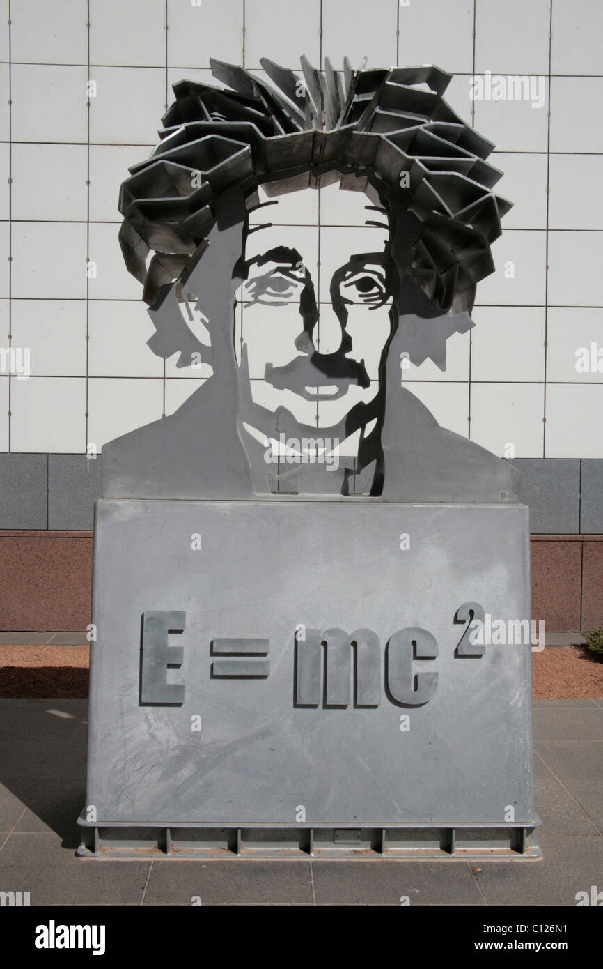 Albert Einstein's theory of relativity in the Science Museum in Canberra, Australia - Stock Image