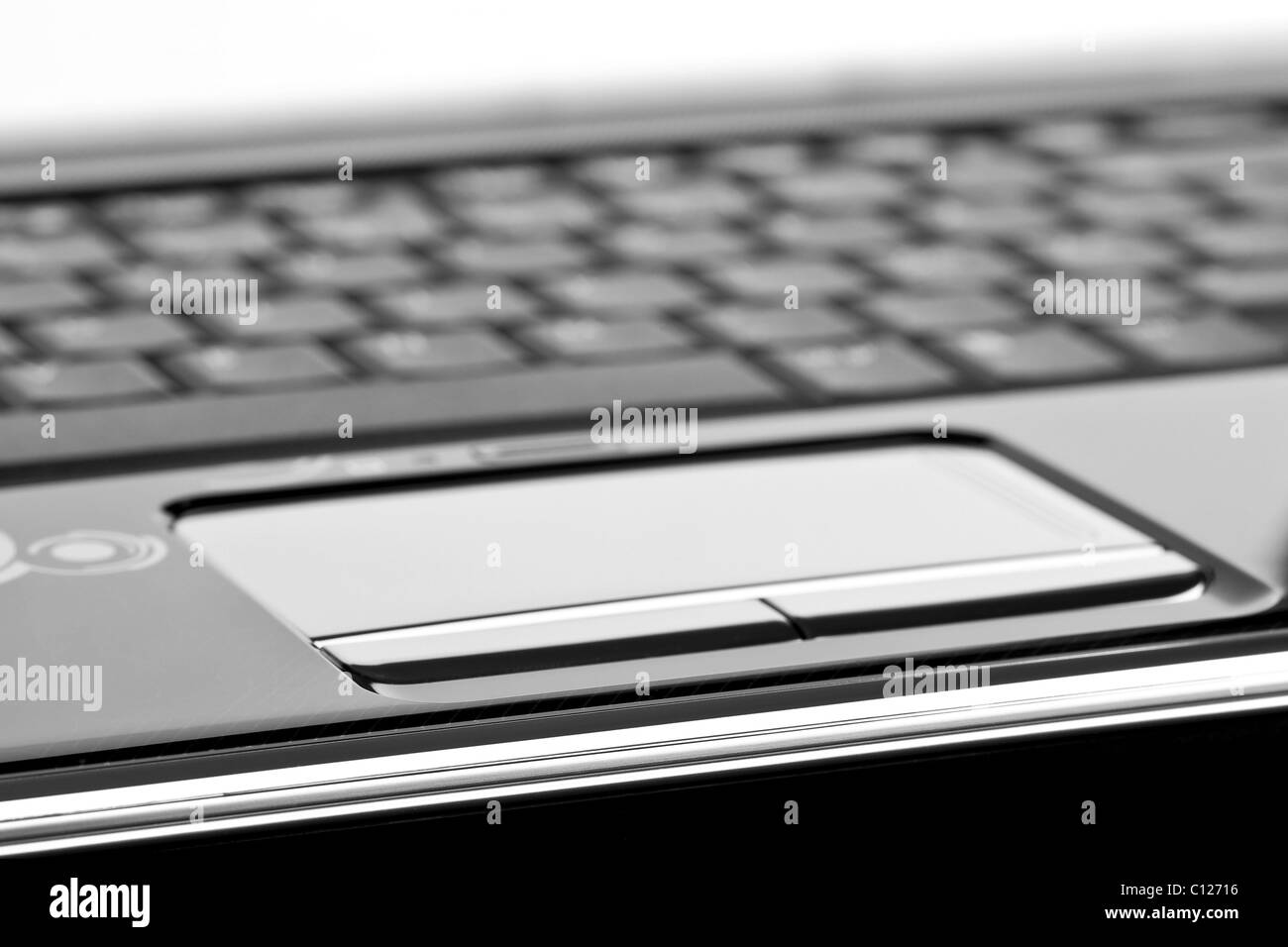 Touchpad of modern laptop computer - Stock Image