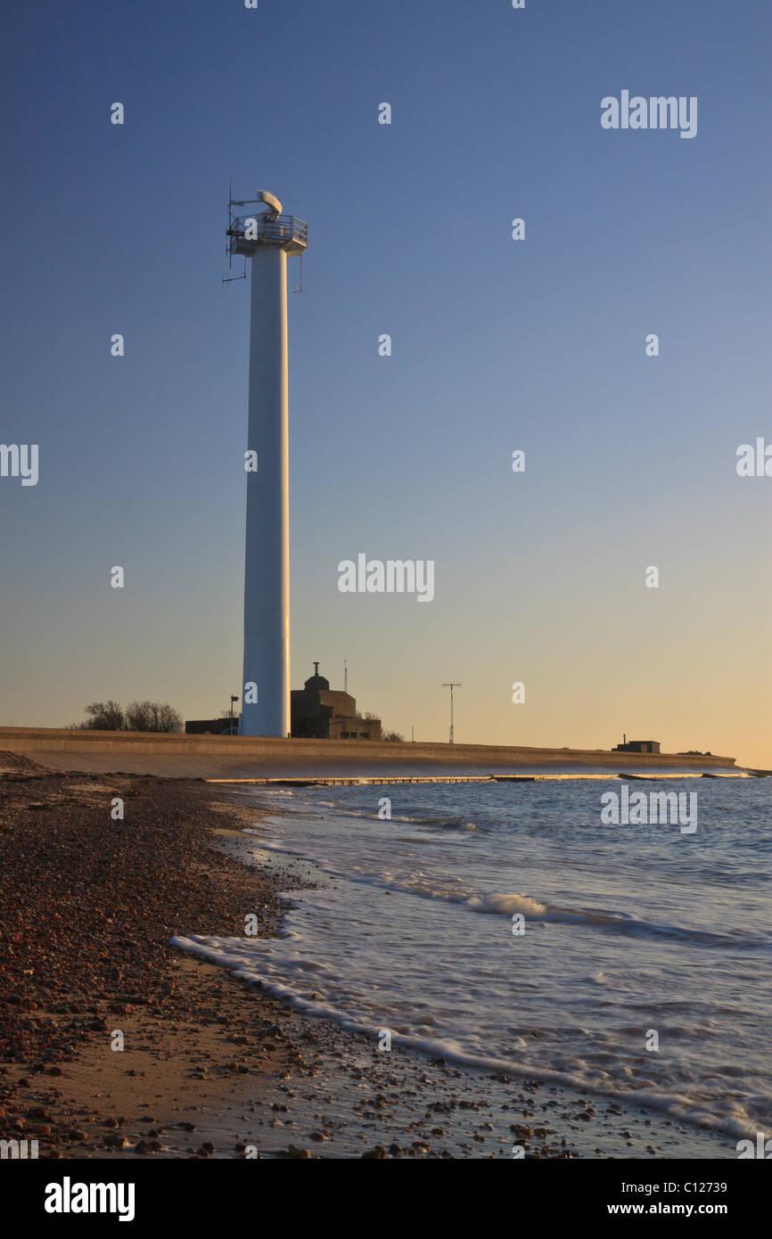 Languard point radar tower, Felixstowe, Suffolk - Stock Image