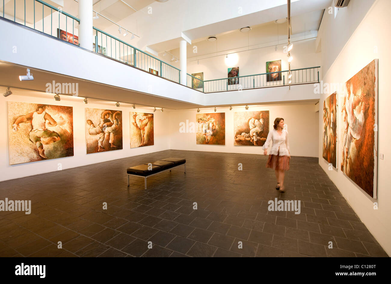 Art Gallery, 'AVA', Association for Visual Arts, art, exhibition, Cape Town, South Africa, Africa - Stock Image