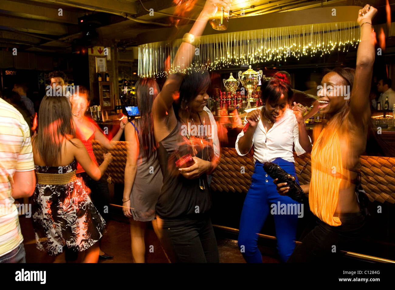 Hemisphere nightclub, party, dancing, Cape Town, Western Cape, South Africa, Africa - Stock Image