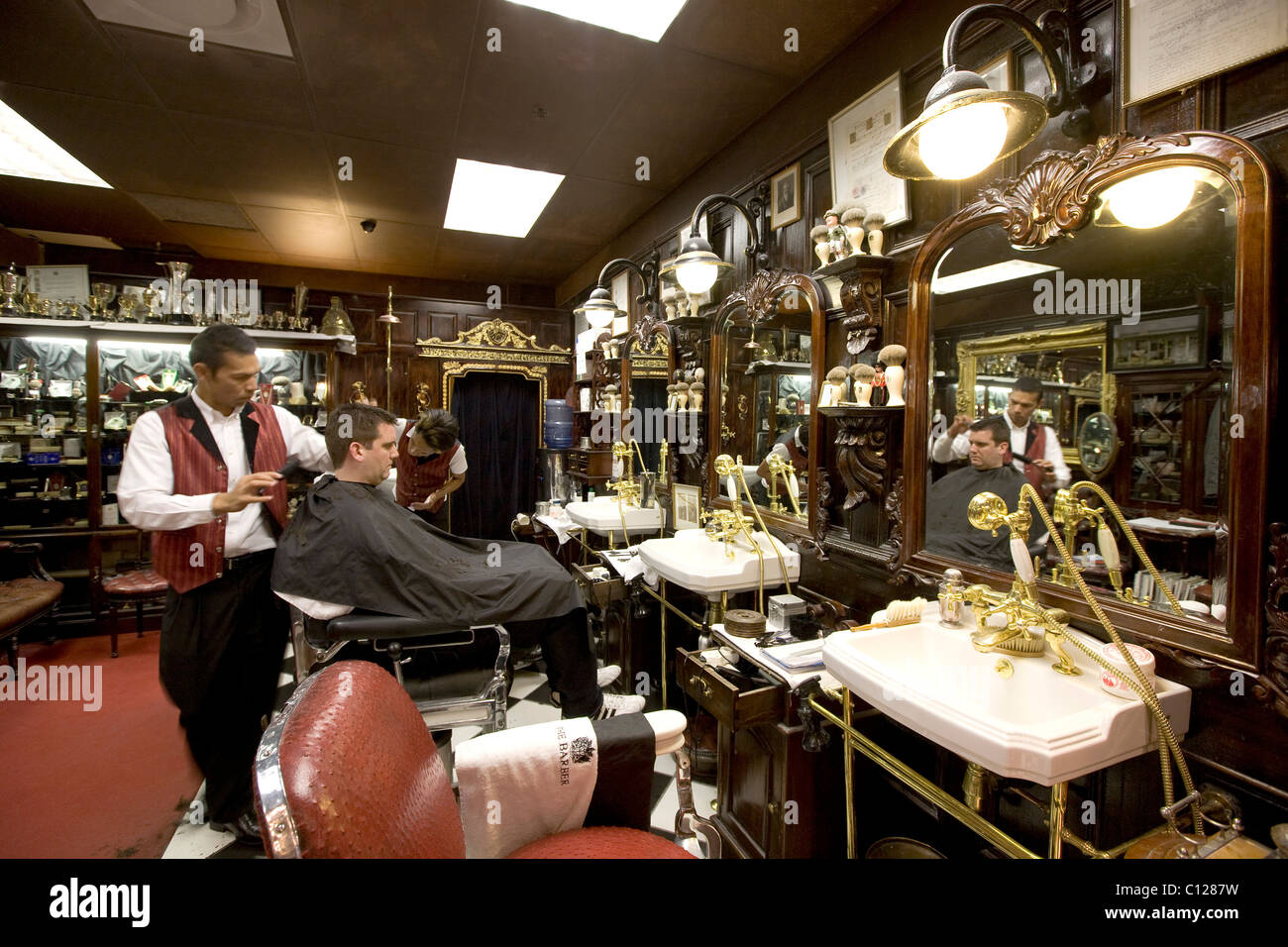 'The Barber Mr. Cobb's', barber, Victoria & Alfred Waterfront, Cape Town, Western Cape, South Africa, - Stock Image