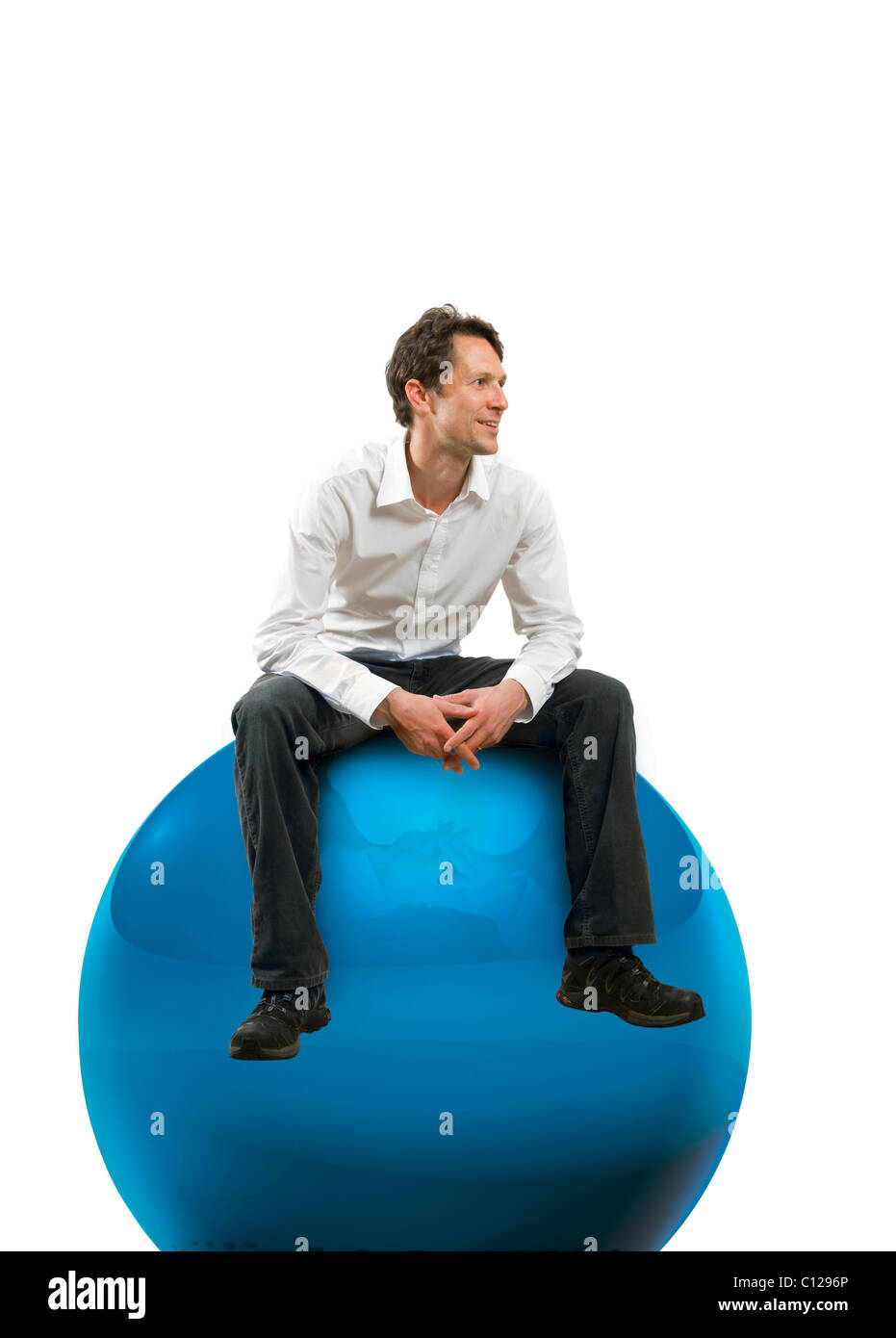 Man with oversized balls