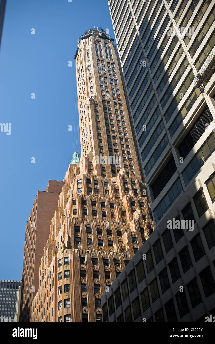 Very tall buildings in Manhattan, New York City, USA - Stock Image