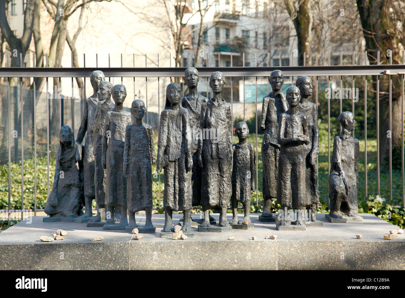 Große Hamburger Strasse Jewish Memorial, Berlin, Germany - Stock Image