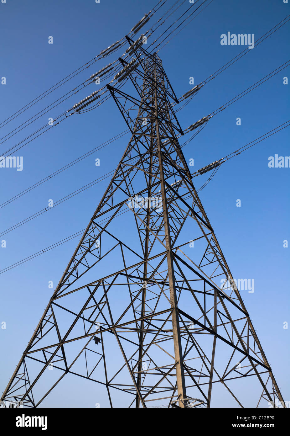 Electricity pylon or tower - Stock Image