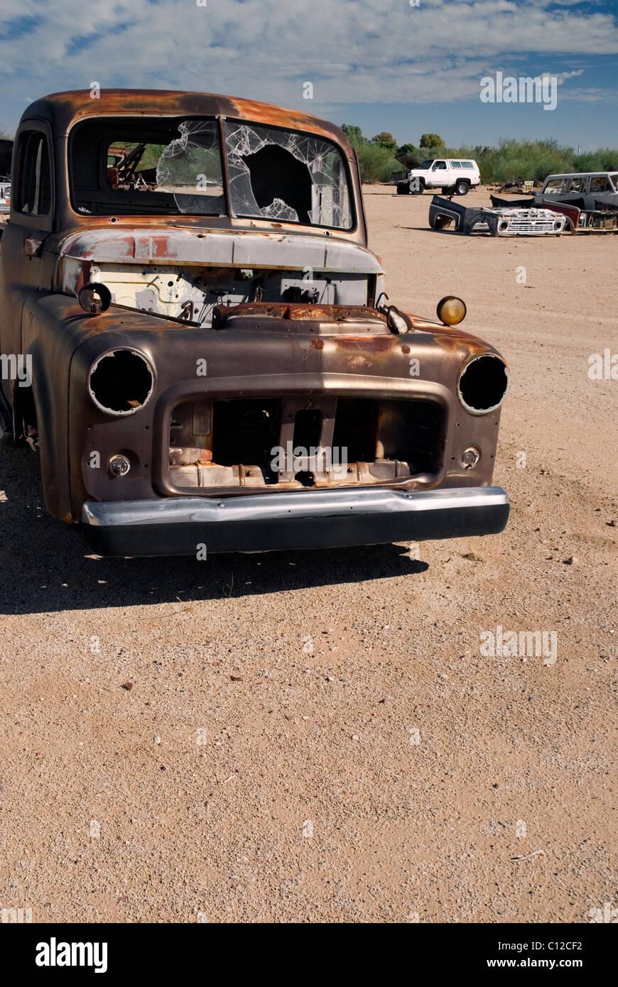 Junkyard Truck - Stock Image