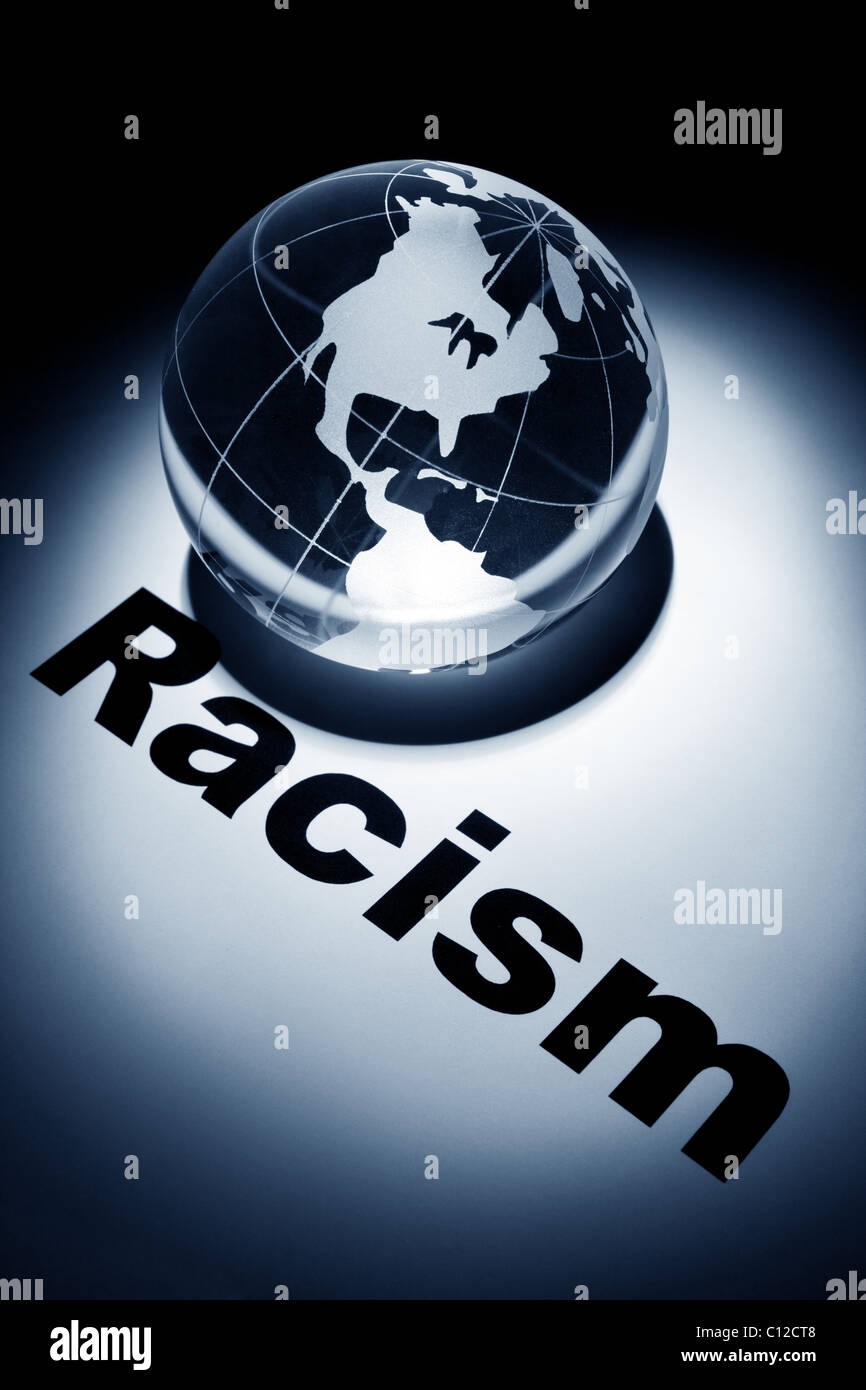 globe, concept of Racism - Stock Image