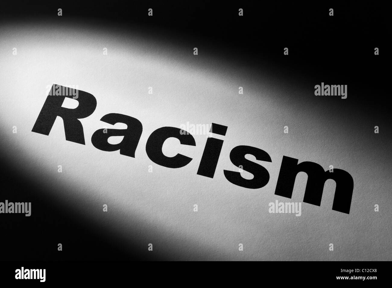 light and word of Racism for background - Stock Image