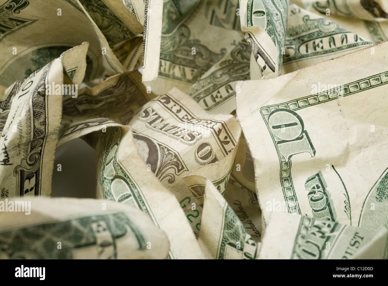 us dollars close up shot, financial concept - Stock Image