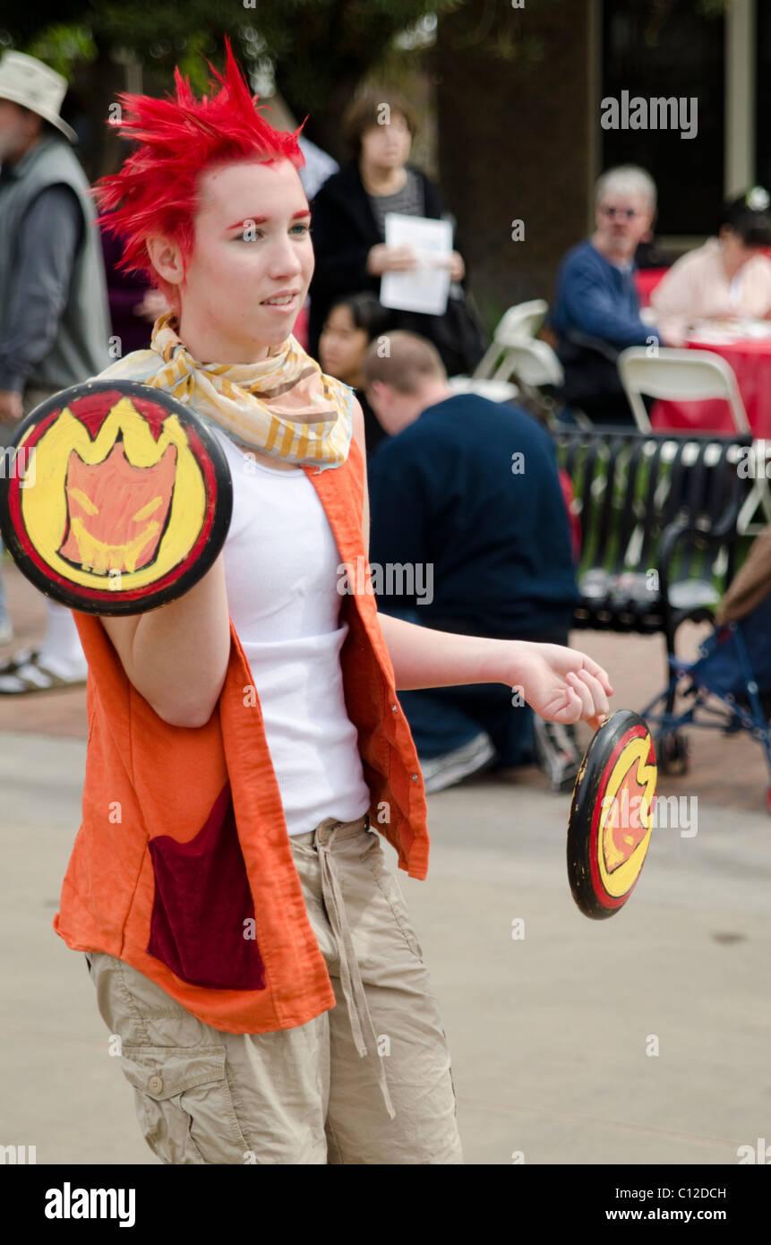 Japanese cosplay at the Matsuri Festival in downtown Phoenix, Arizona, USA - Stock Image