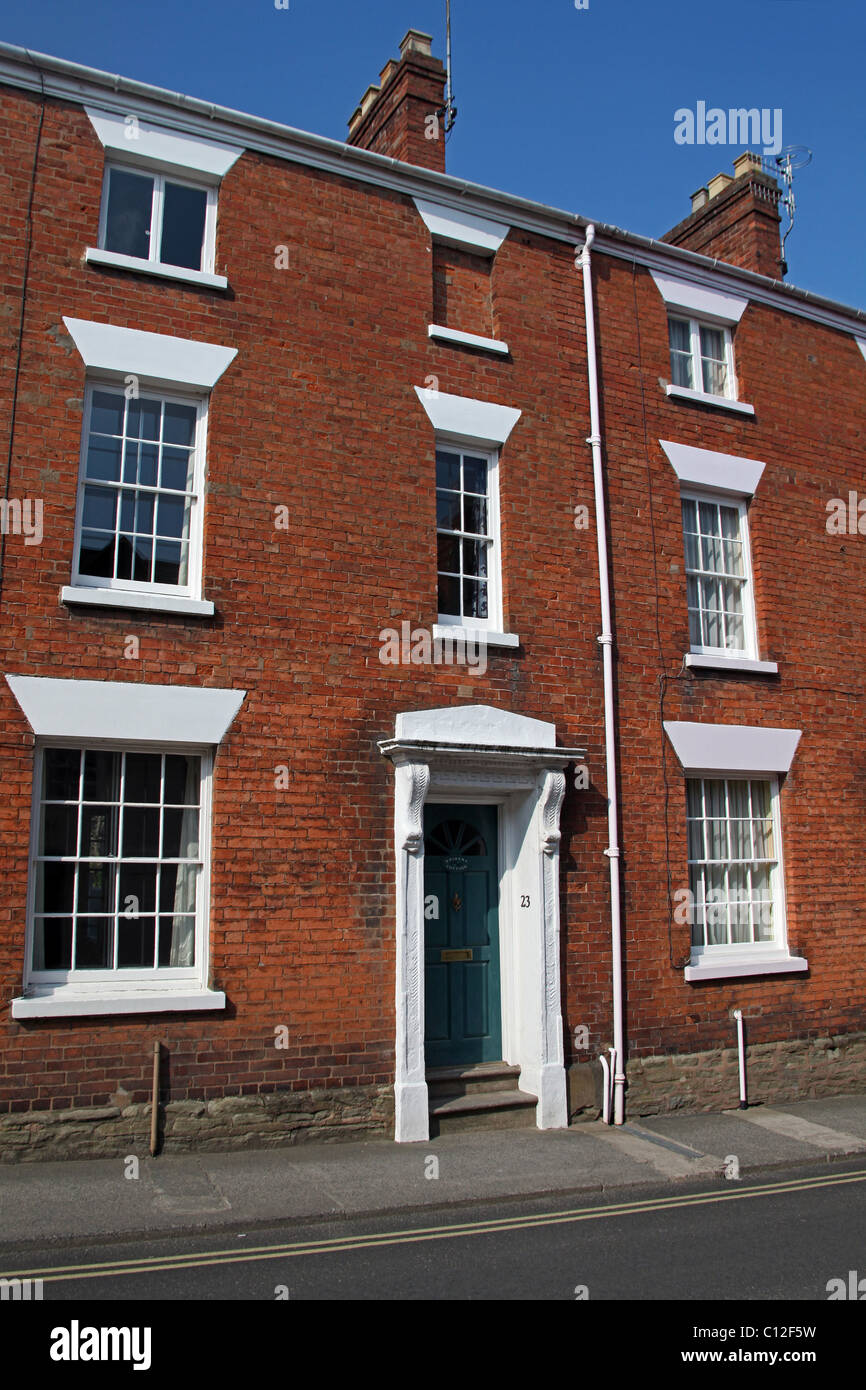 Town house on Bell Lane in Ludlow, Shropshire, England, UK - Stock Image
