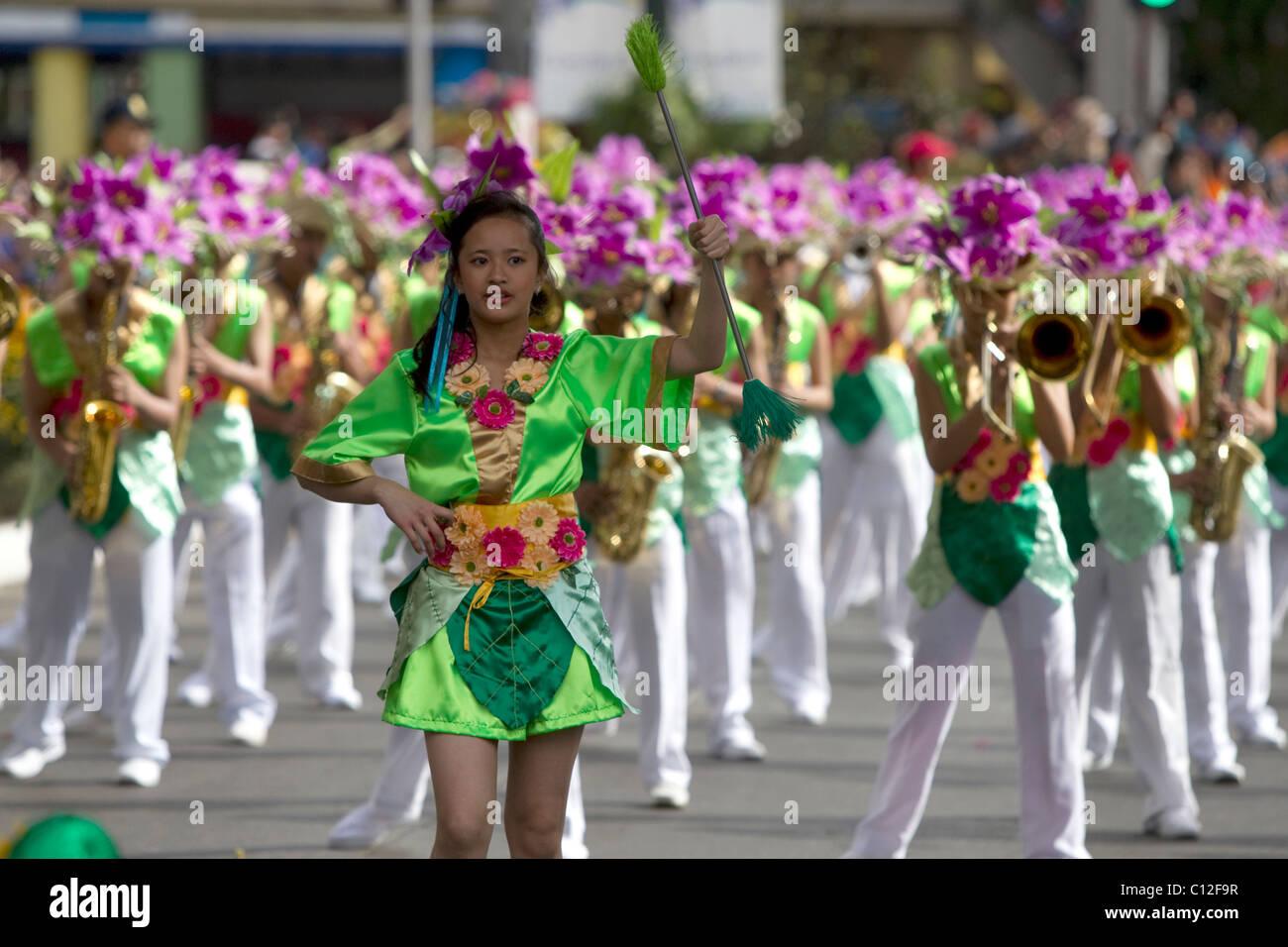 Colour Costume Filipino Fiesta Flower Festival Musicians