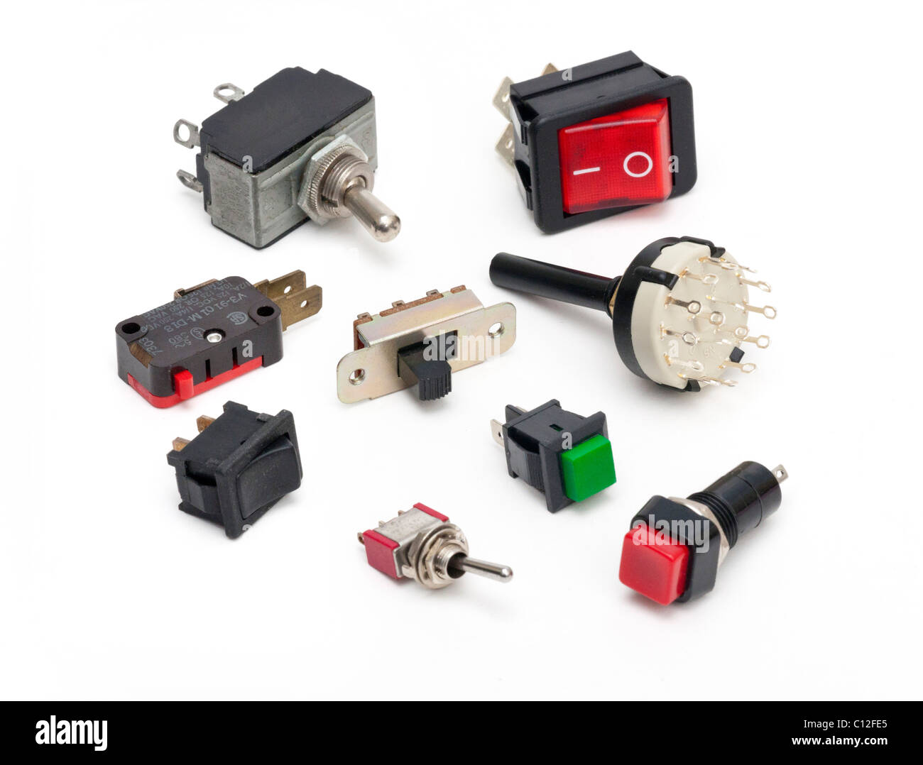 various electrical switches Stock Photo: 35091453 - Alamy