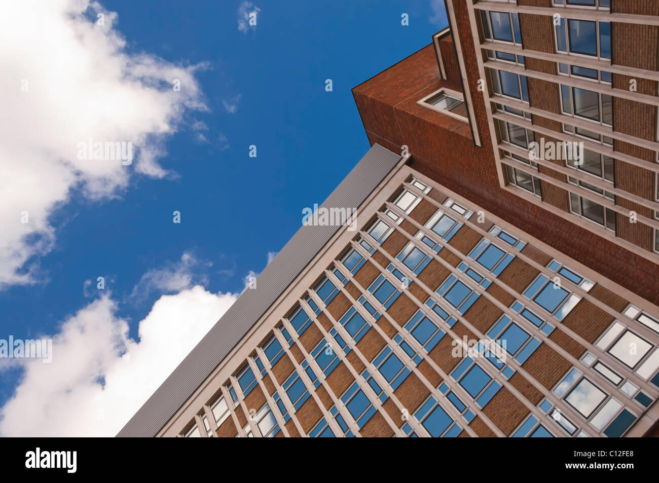 Windows on an office block in the Uk - Stock Image