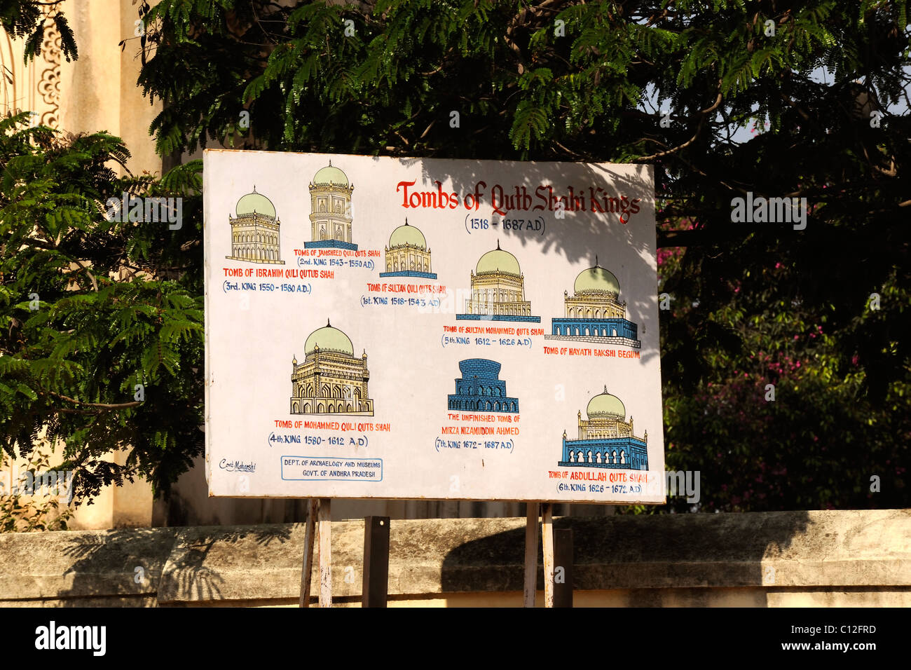 Tombs of the Qutb Shahi Kings, Hyderabad, - Stock Image