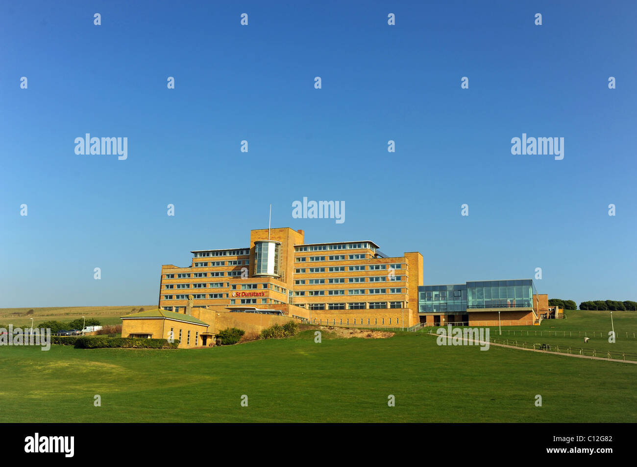 St Dunstan's home for blind servicemen and servicewomen at Ovingdean near Brighton East Sussex UK - Stock Image